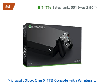 Xbox One sube sus ventas un 700% en Amazon